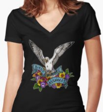 Birds are Assholes Women's Fitted V-Neck T-Shirt