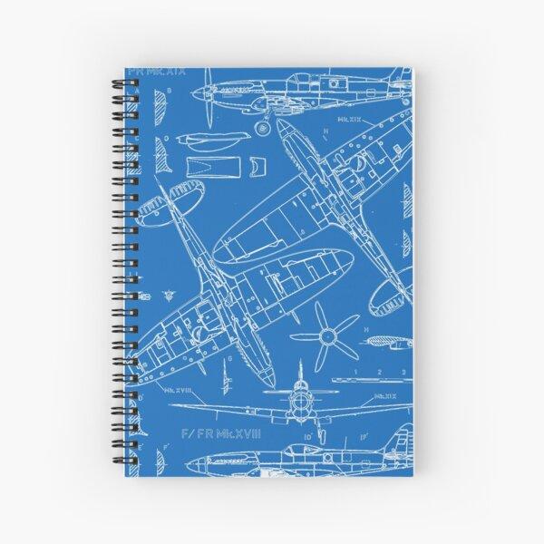 Spitfire Concept Blueprints Spiral Notebook