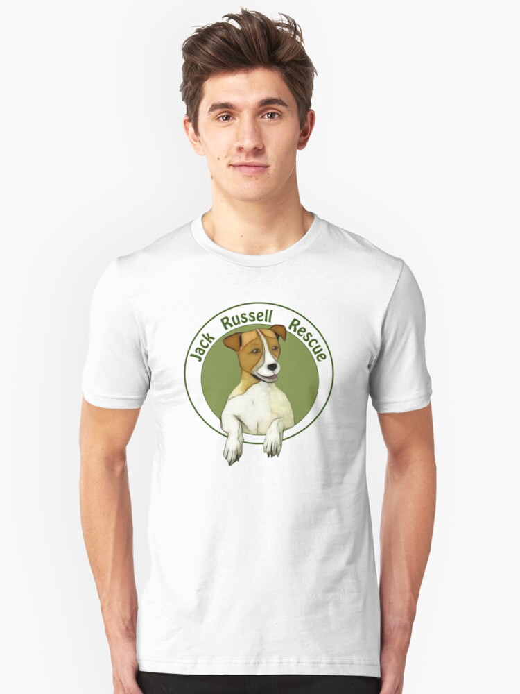 Jack Russell Rescue Logo Tee Shirt Unisex T-Shirt Front