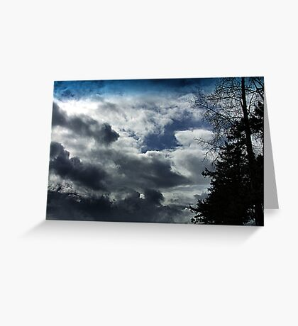 Storm Front Passing Greeting Card