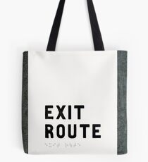 Exit Route Sign Tote Bag