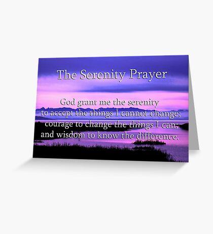 scenic serenity prayer Greeting Card