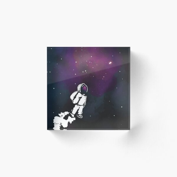 Brian The Poostronaut Evacuates To Outer Space Acrylic Block