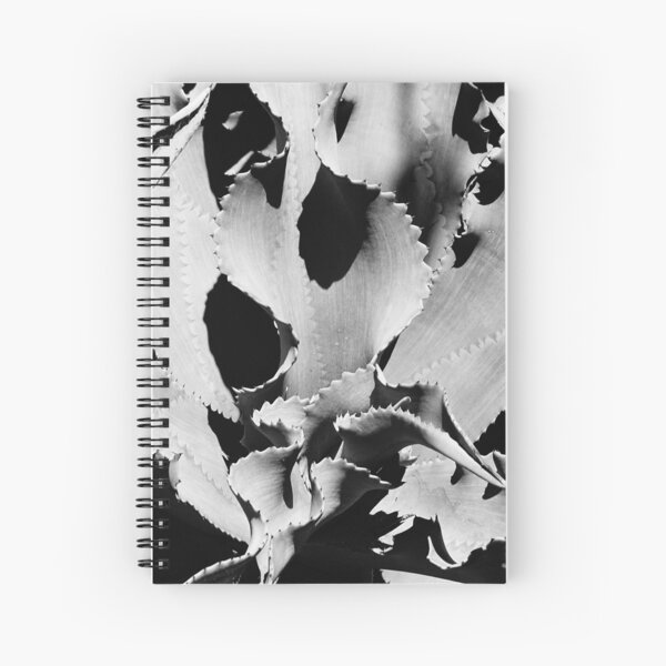 Succulent in black and white Spiral Notebook