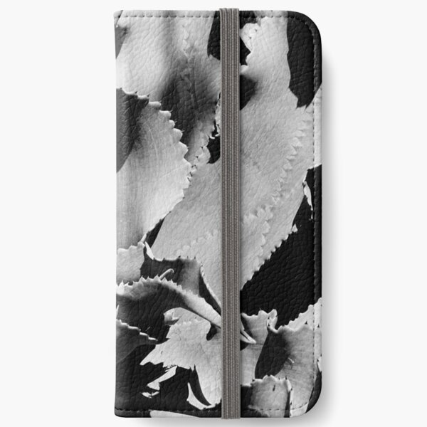 Succulent in black and white iPhone Wallet