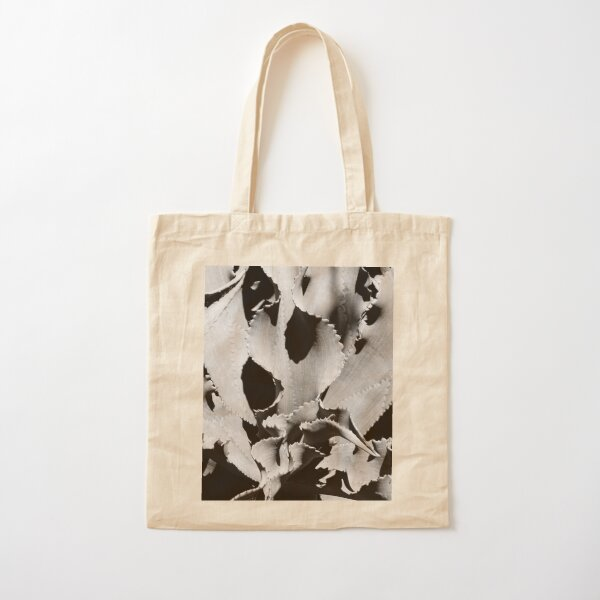 Succulent in black and white Cotton Tote Bag