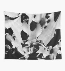 Succulent in black and white Wall Tapestry