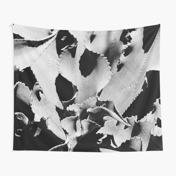 Succulent in black and white Tapestry