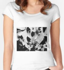 Succulent in black and white Fitted Scoop T-Shirt