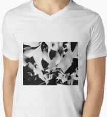 Succulent in black and white V-Neck T-Shirt