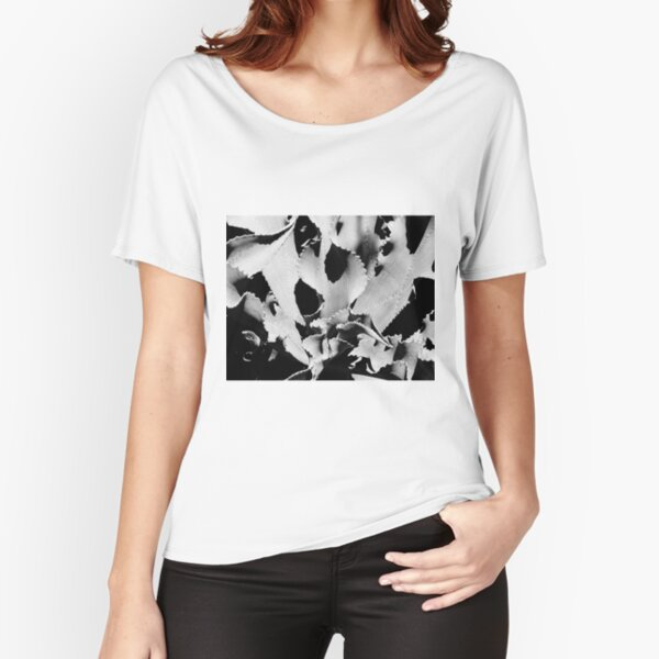 Succulent in black and white Relaxed Fit T-Shirt