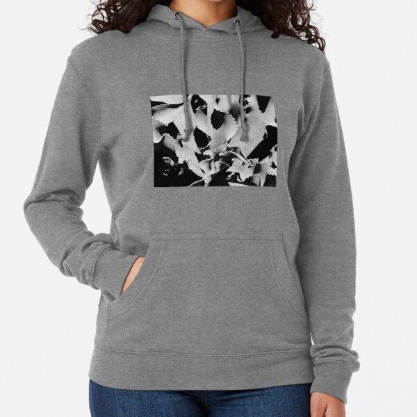 Succulent in black and white Lightweight Hoodie