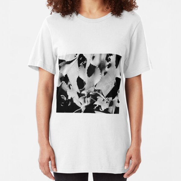 Succulent in black and white Slim Fit T-Shirt