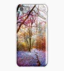 Colorful Enchanted Winter Forest Landscape iPhone Case/Skin