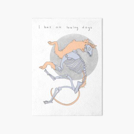 I bet on losing dogs — Mitski Art Board Print