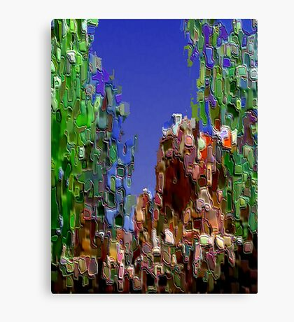 3Dish painting (virtual bas-relief) Canvas Print
