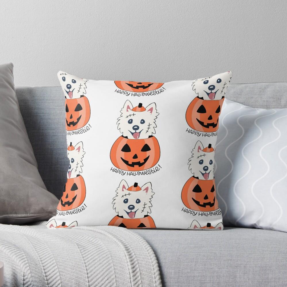 Happy Hallowestie! Throw Pillow