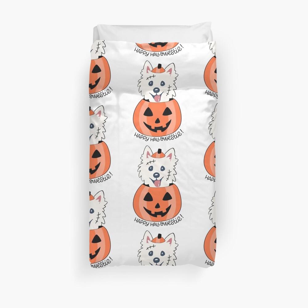 Happy Hallowestie! Duvet Cover