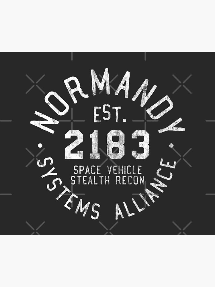 SSV Normandy Athletic Shirt | Mass Effect Athletic Style | White Print by surik-