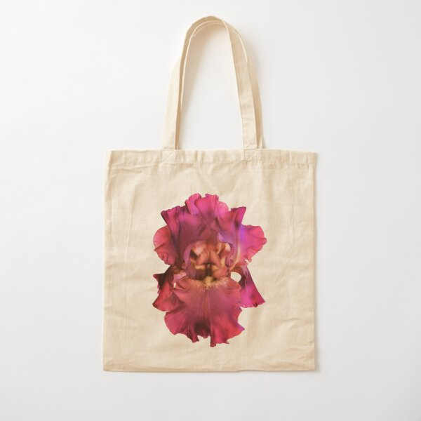 Pink Iris Cotton Tote Bag