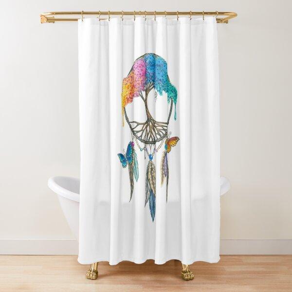 Tree of Life Dream Catcher Shower Curtain