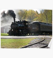 Steam Engine Train Afternoon Poster