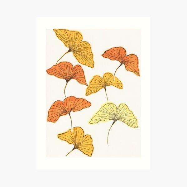 Golden Gingko Art Print
