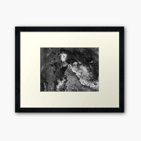 Rock Shelf Merimbula Framed Art Print