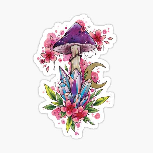 Spiritual Shroom watercolor design Sticker