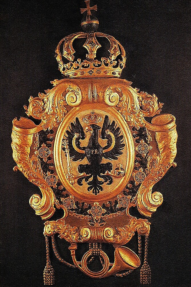 Prussian Coat of Arms..1720 Post office sign by edsimoneit