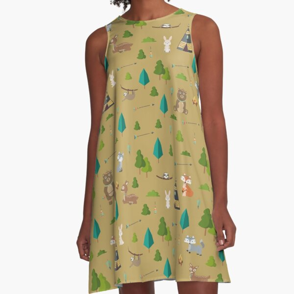 Woodland Friends A-Line Dress