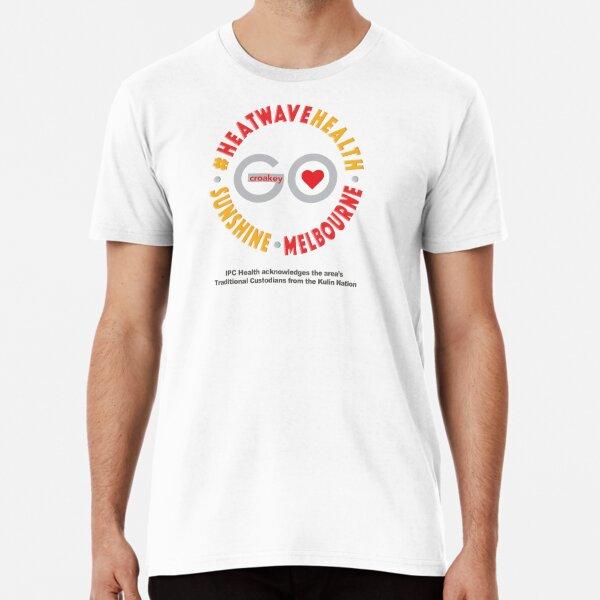 CroakeyGo – #HeatwaveHealth – Clear Premium T-Shirt