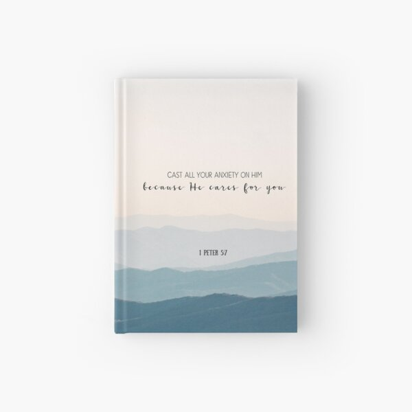 Christian Bible Verse Quote - Anxiety Hardcover Journal