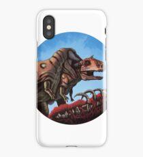 Dinosaur Cannibalism iPhone Case