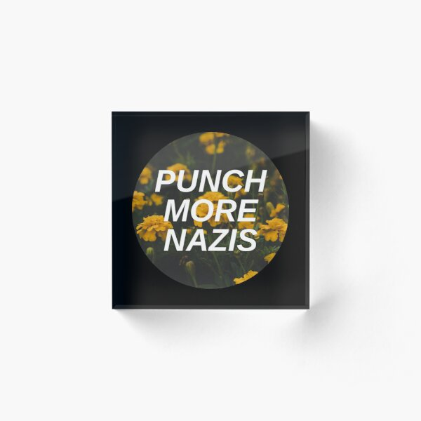 Punch More Nazis Acrylic Block