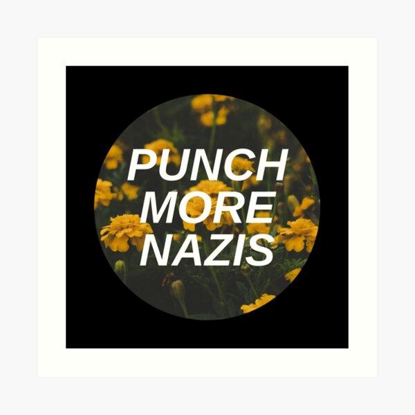Punch More Nazis Art Print