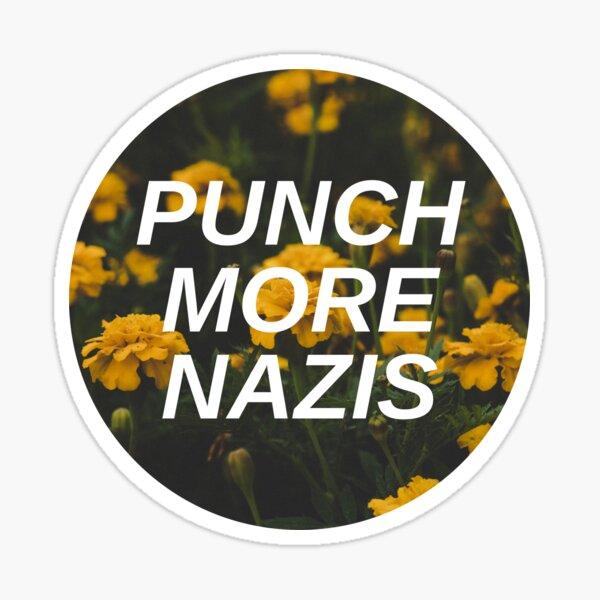 Punch More Nazis Sticker
