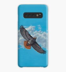 """Freedom on the Wing"" Red tailed Hawk in Flight Case/Skin for Samsung Galaxy"
