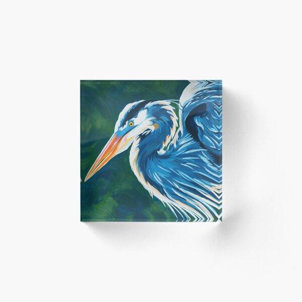 Great Blue Heron Acrylic Block