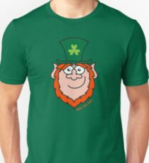 St Paddy's Day Leprechaun Smiling Slim Fit T-Shirt