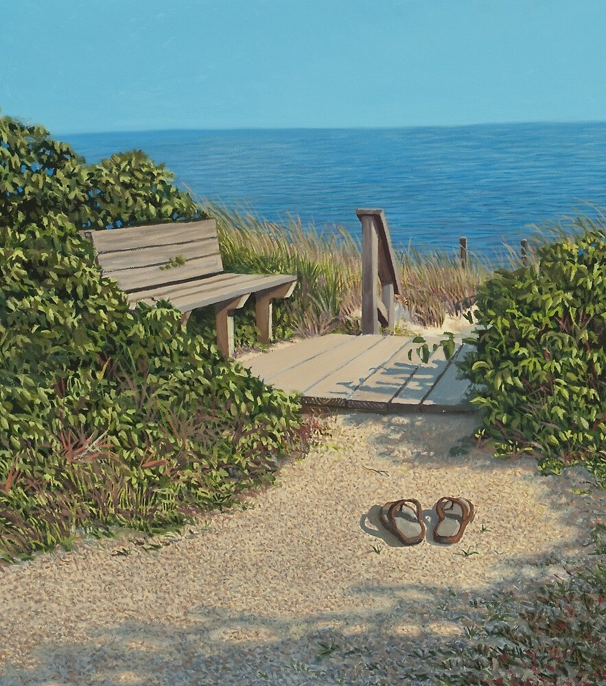 """""""Tides In"""" Original Oil painting by Reed A Prescott III by Reed Prescott"""