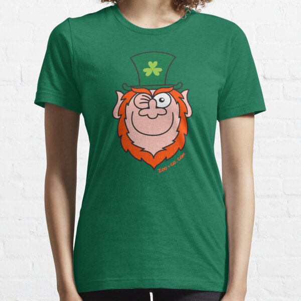 St Paddy's Day Leprechaun Winking and Smiling  Essential T-Shirt