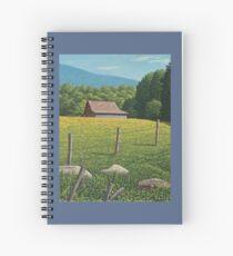 Barn on Elder Hill- Lincoln Vermont Spiral Notebook