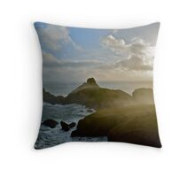 Hazy Coast Throw Pillow