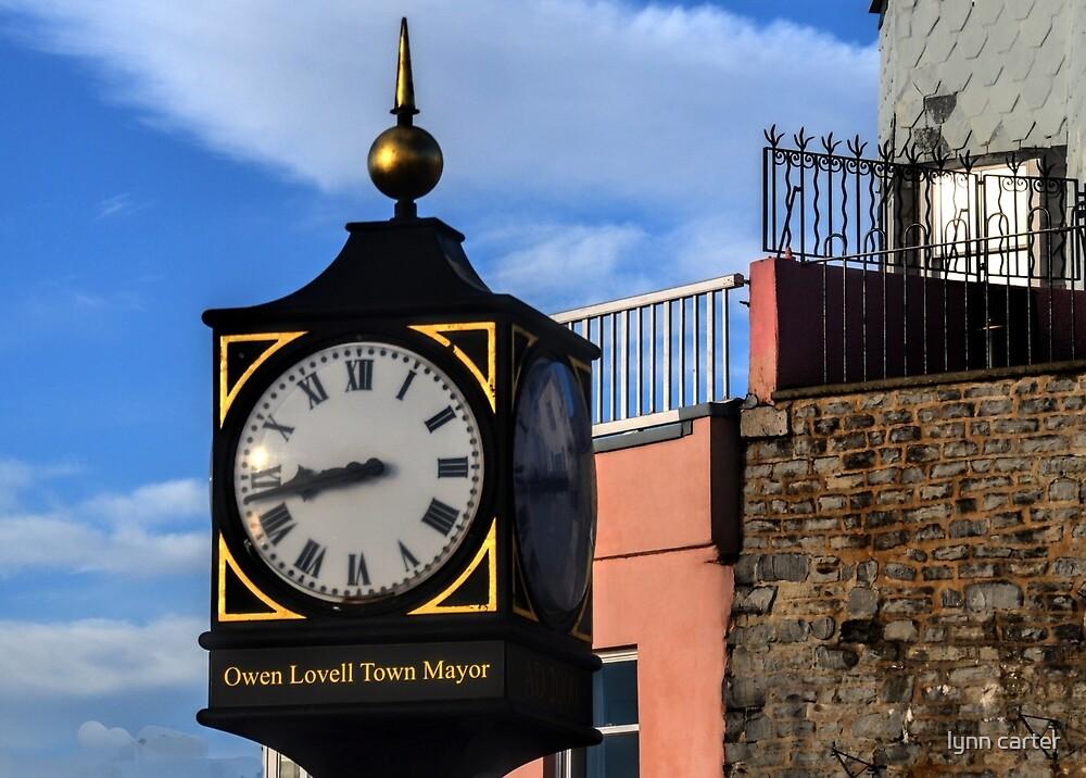 Town Clock At Lyme Dorset UK by lynn carter