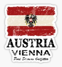 Austria Flag - Vintage Look Sticker