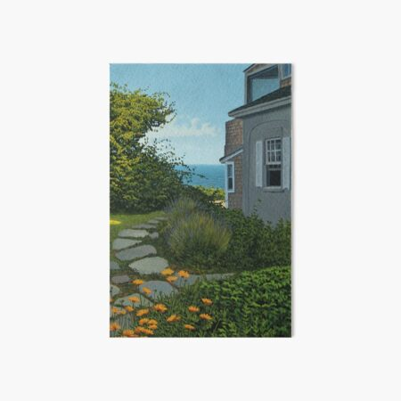 """The Cottage"" oil painting by Reed A Prescott III Art Board Print"