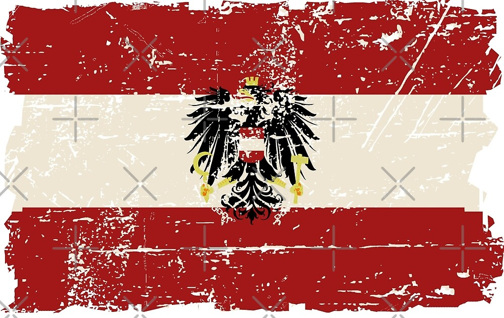 Austria Flag - Vintage Look by Port-Stevens