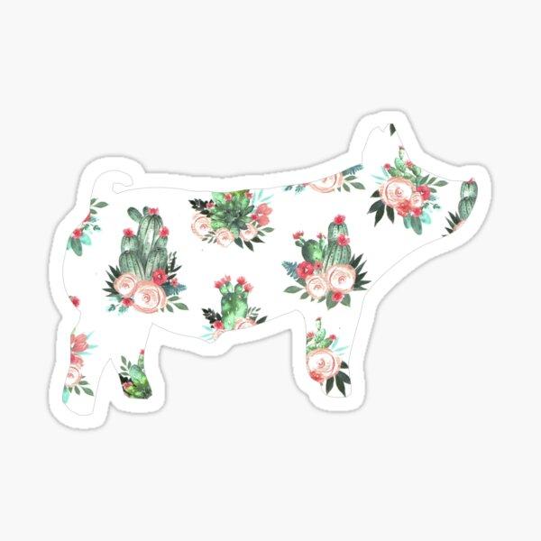 Show Pig (Cactus Rose) Sticker