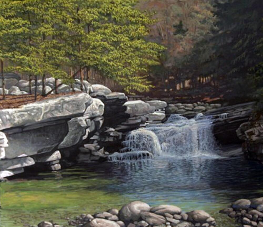 """Bartlett's Falls"" Bristol Vermont painting by Reed Prescott by Reed Prescott"